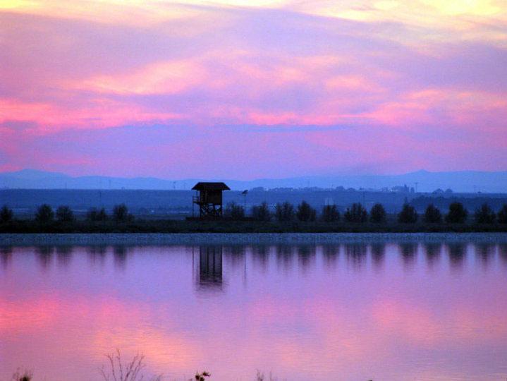 tramonto_OASI LAGO SALSO