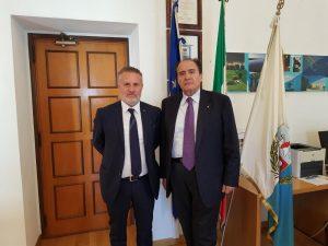 da sx il Presidente d'Errico ed il Commissario Piscitelli